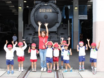 機関車も見に行ったよ!