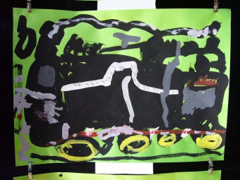絵画『蒸気機関車』