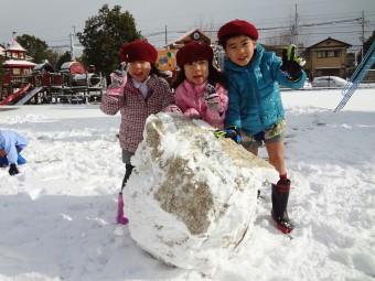 雪であそんだよ!