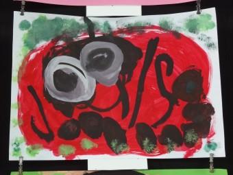 絵画『てんとう虫』(3才児)
