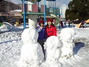 雪だるま作ったよ!