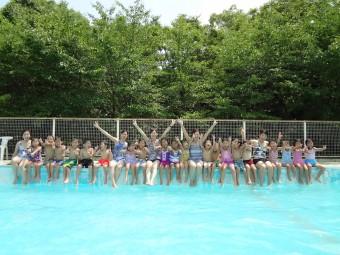 大きなプールで遊んだよ!