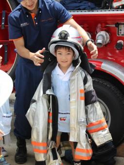 「将来の夢は消防士」のお友達です