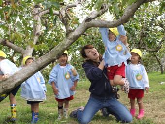 柿の木で木登りもしたよ!