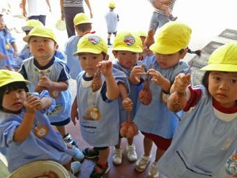 幼稚園の畑でおいもほり!
