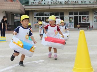 2才児さんは新幹線の競争です!